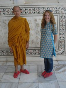Фото с тибетским монахом